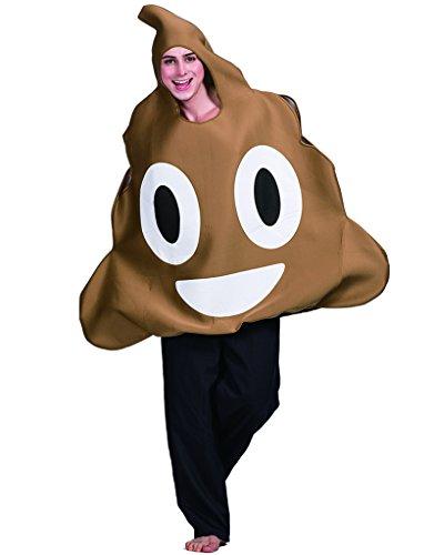 EraSpooky Emoticon Kacke Kostüm Erwachsenen Emoji Karnevalskostüm (One Size, Brown)