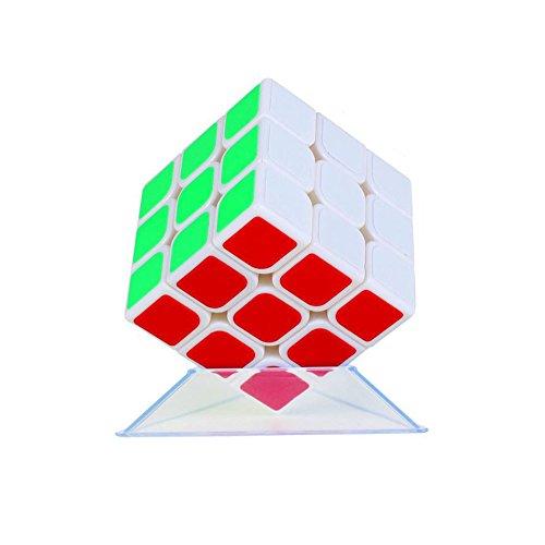Wings of wind - Cubo mágico Ultra-Liso del Cubo del Cubo de la Magia del Cubo mágico Cubo de GuanLong 3x3x3 (Blanco)