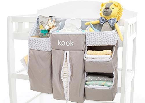 kook Nursery Organizer and Diaper Caddy I Store Baby Essentials I Hanging Diaper Organization