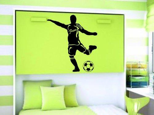 Footballeur avec nom en tant que autocollants dans versch. Tailles et 27 couleurs, Couleur au choix, ca. 120 x 136 cm (bxh)