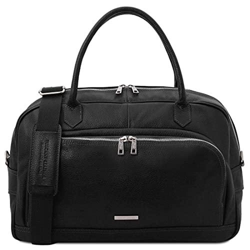 Tuscany Leather TL Voyager - Borsa da viaggio in pelle morbida - TL142148 (NERO)