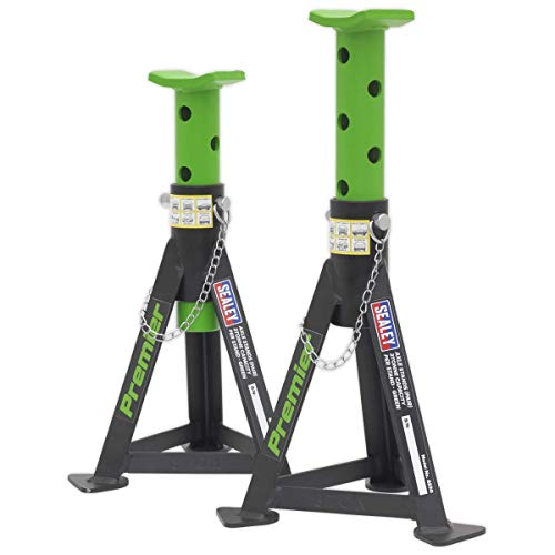 Sealey AS3G Axle Stands (Pair) 3tonne Capacity per Stand - Green