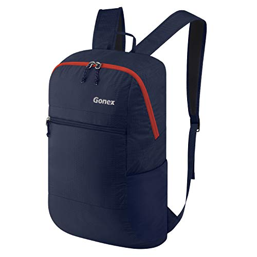 Gonex Packable Backpack, 30L Lightweight Daypack for Cycling Hiking Trekking Climbing Riding Travel Water Resistant Deep Blue