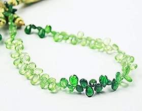 KALISA GEMS Beads Gemstone Rare Shaded Green Garnet Tsavorite Faceted Pear Drop Gemstone Craft Loose Beads 8