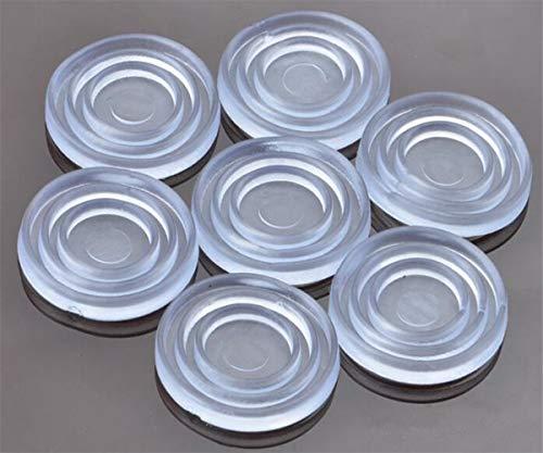 Klarglas-Tischplattenpuffer,Glas-Tischplattenpuffer, weiches Material, zur Steuerung der Glasbewegung, Kunststoffstoßstange für Tischglasplatte, Glasplatten-Saugnapf, Glasplatten-Abstandhalter,(klein)