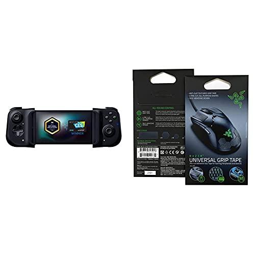 Razer Kishi Mobile Game Controller / Gamepad for Android USB-C + Universal Grip Tape Bundle