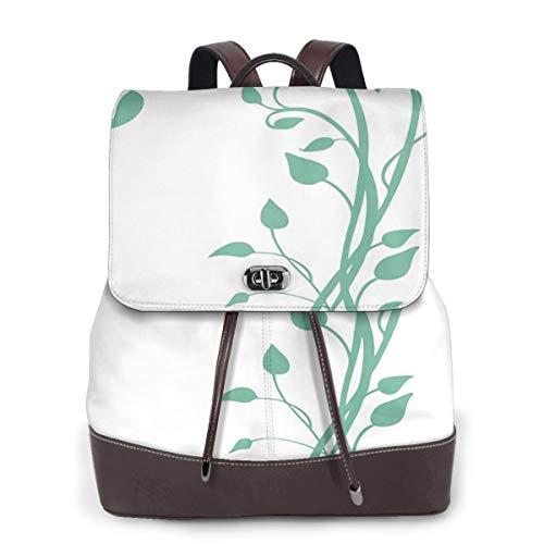 Women Leather Backpack Climber Vine, Schoolbag Casual Daypack School Travel Bag Satchel Laptop Backpacks for Women