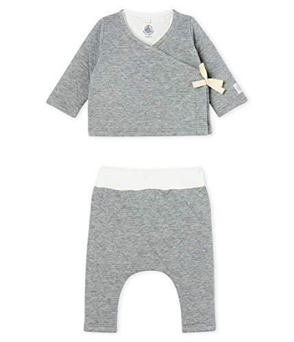Petit Bateau Ensemble 2 Pieces_5042702, Gris (Subway Chine 02), 58 (Taille Fabricant: 1M/54centimeters) Mixte bébé