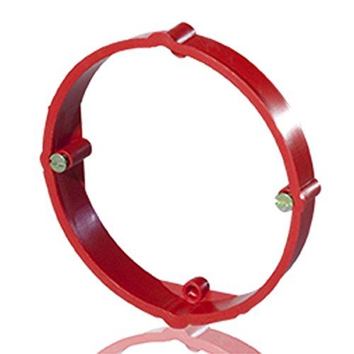 10 Stück Putzausgleichsring rot 12mm hoch Putzausgleichring 60mm rund mit Schrauben