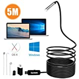 IWOBAC Semi-Rigid USB Endoscope, 2.0 Megapixels HD 8.5mm Waterproof Borescope...