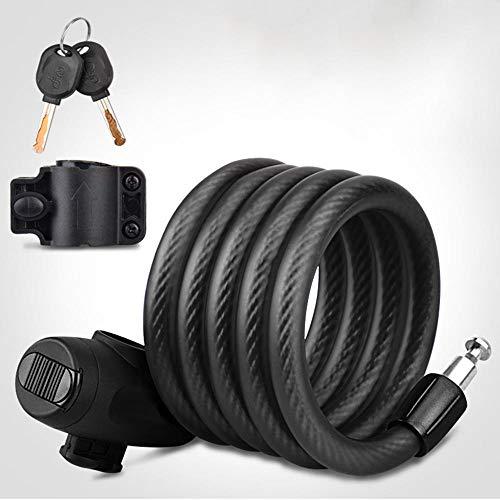 meimie00 209cm lange luskabel - staalkabel ommanteld staalkabel met ogen, vinyl ommanteling flexibele sluiting, voor D-Lock, remschijven slot en gordijnen slot