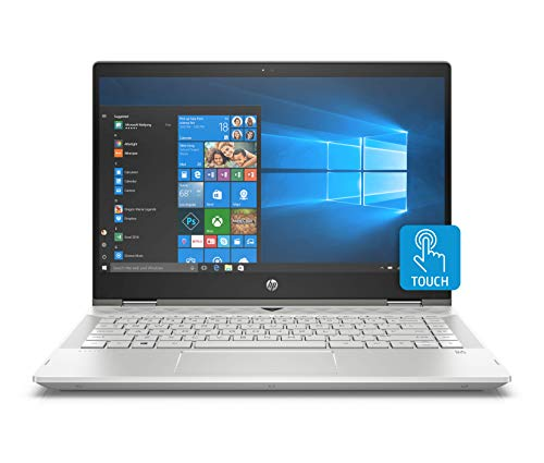 HP Pavilion X360 14-Inch Convertible Laptop, Intel Core I5-8265U Processor, 8 GB RAM, 1 TB Hard Drive & 128 GB Solid-State Drive, Windows 10 Home (14-cd1042nr, Mineral Silver)