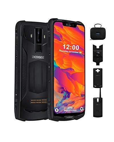 DOOGEE S90C Outdoor Smartphone Android 9.0, 4G Dual SIM Handy IP68/IP69K Wasserdicht Handy 4+128GB, Handy 6,18 Zoll 10050mAh (Power Mod Umfassen), 16+8+8MP Cameras, GPS NFC Kabelloses Laden, Schwarz
