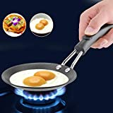 【𝐌𝐚𝐫𝐫𝒚 𝐂𝐡𝐫𝐢𝐬𝐭𝐦𝐚𝐬 𝐋𝐨𝒘𝐞𝐬𝐭 𝐏𝐫𝐢𝐜𝐞】Cute Mini Fry Pan, Cookware Nonstick Baking Pans,Poached Egg Model Household Skillet Small Wok Kitchen Cooker(Electric Wood Handle)