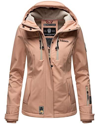 Marikoo Damen Softshell Jacke Winterjacke wasserabweisend Outdoor B864 [B864-Kl.zicke-Rosa-Gr.M]
