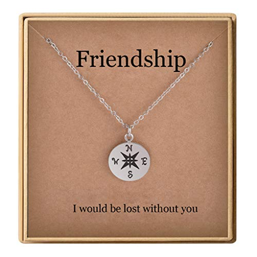 Christmas Gifts Friendship Gifts Dainty Compass Pendant Necklace for Women Friendship Jewelry