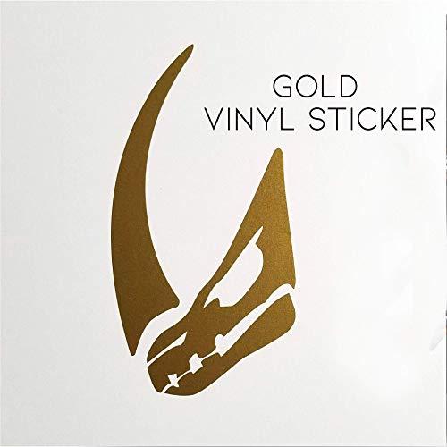 Bounty Hunter Mando Mudhorn Logo Signet Mud Horn Gold vinyl decal bumper sticker