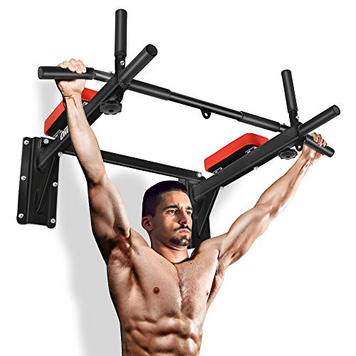 ONETWOFIT Pull Up Bar Wall Mounted Chin Up Bar Home Gym Body Workout...