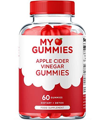 Apple Cider Vinegar Gummies Immunity Boosting Formula with The Mother - Enhanced with Vitamin B12 & Folic Acid - 60 pcs 1000MG - Vegan & Gluten Free - Natural Detox Cleanse - Unfiltered ACV Gummies