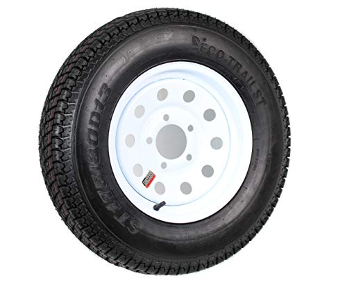 Trailer Tire Rim ST175/80D13 175/80 D 13 B78-13 LRC 5 Lug Wheel White Modular