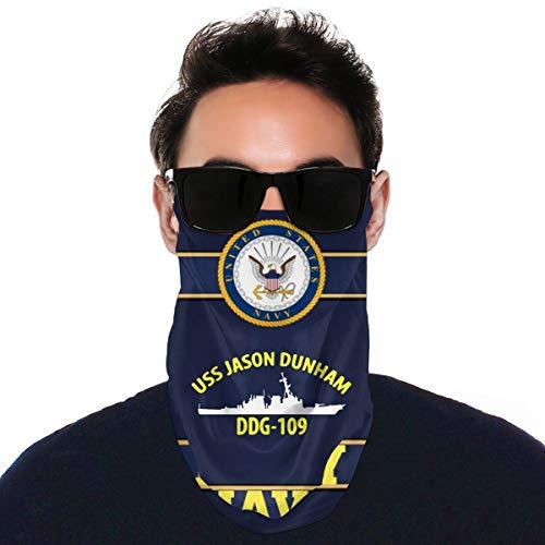 USS Jason Dunham Ddg-109 Variety Face Towel Reusable Sports Neck Gaiter Scarf Face Mask Black