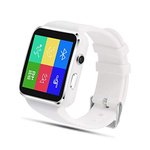SEPVER Smartwatch SN07 Reloj Inteligente para Tarjeta SIM Bluetooth Actividad Inteligente con Podómetro para Samsung Huawei Xiaomi Android teléfonos Inteligentes para Mujeres Hombres Niño (Blanco)