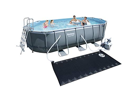 Bestway 14259 Piscine Hors Sol Power Steel, Gris