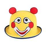 PRETYZOOM Cappello da Clown Bombetta Cappello Vestito Operato Accessorio Circo Festa di Carnevale Decorazione per Bambini Adulti (Giallo)