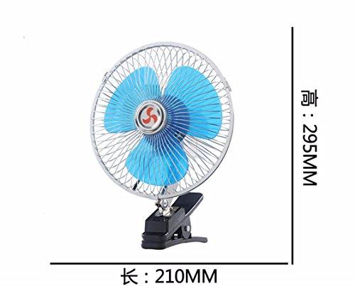 JISHUQICHEFUWU Ventilateur/Voiture avec Un Petit Ventilateur/Ventilateur Rotatif/pièces Auto, K, 12V