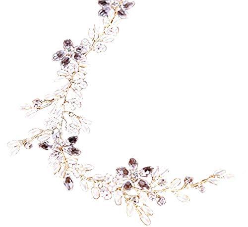 Damen Haarschmuck Haarband Haarreif Haarbänder Kristall Haardeko Kristallen Hochzeit Braut Kristall gold Perlen Edel Edelschmuck Accessoires