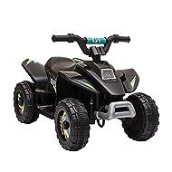 HOMCOM 6V Kids Electric Ride on Car ATV Toy Quad Bike Four Big Wheels w/ Forward Reverse Functions T...