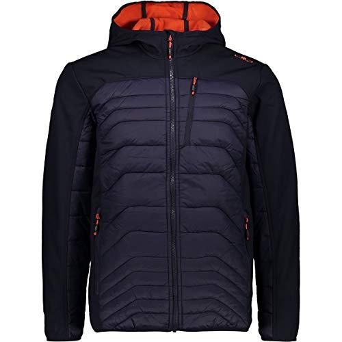 CMP Herren Softshell-Hybrid Jacke, Black/Blue, 54
