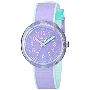 Flik Flak Kids' Color Blast Quartz Polyester Strap, Purple, 14 Casual Watch (Model: ZFPNP044)