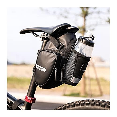 Alforja Para Bicicletas Llegada Bicicleta Sillín Bolsa con botella de agua Bolsillo Impermeable Bicicleta trasera Bolsas de silla de montar Bolsa de cola de gran volumen Bolsa Alforja Para Bicicleta