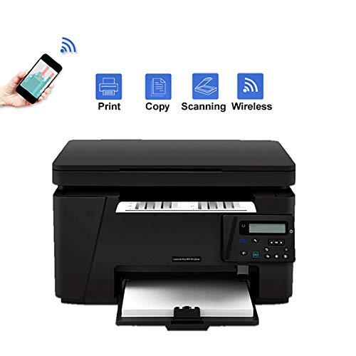 TANCEQI Impresora Láser Multifunción(Wi-Fi Inalámbrica, Impresión/Copia/Escaneado, A4, USB2.0, 10Base-T / 100Base-TX (RJ-45 de Interfaz de Red))