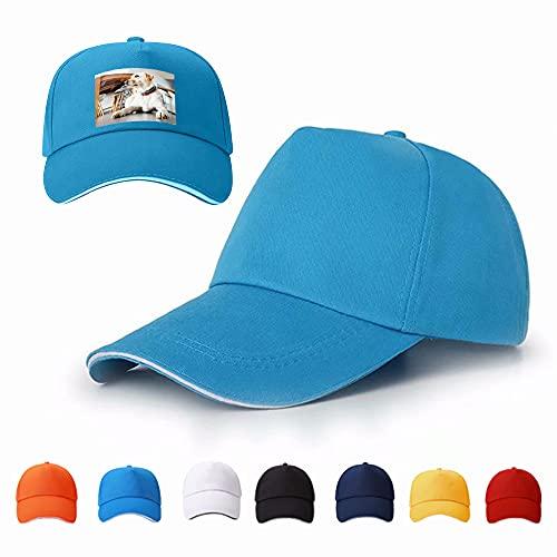Yu Liao Gorra de béisbol con Imagen Personalizada, Sombreros de Sol Unisex Personalizados, Ajustable, Relajado, Transpirable, de algodón, Deportes de Ciclismo en la Playa