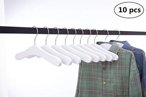 Cocomaya Pack de 10 niños de Madera para bebés, niños pequeños, Abrigos para Perchas, Ropa, Camisas de Vestir, Perchas con Gancho Giratorio 360 (30 cm Color Blanco de, 10)