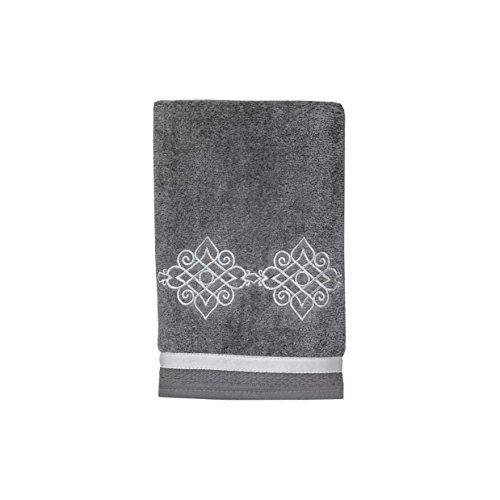 Avanti Linens Riverview Hand Towel, Nickel,038122NKL