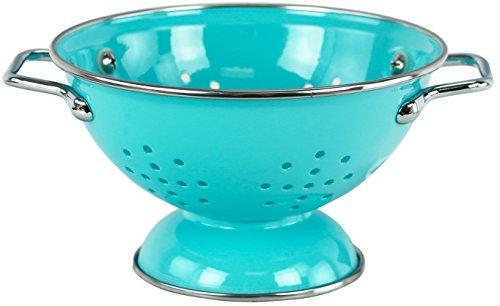 Calypso Basics by Reston Lloyd Powder Coated Enameled Colander 1 Quart Turquoise