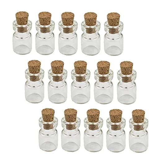 Screst Botellas Botellas 50pcs Cork Tapón De Vidrio, Botellas del Deseo Pequeño Tarros De Cristal del Favor De Los Viales Cork