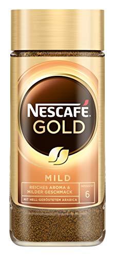 NESCAFÉ Gold Mild, löslicher Bohnenkaffee aus erlesenen Kaffeebohnen, Instant-Pulver, koffeinhaltig & aromatisch, 1er Pack (1 x 100g)