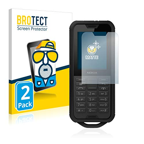 BROTECT 2X Entspiegelungs-Schutzfolie kompatibel mit Nokia 800 Tough Bildschirmschutz-Folie Matt, Anti-Reflex, Anti-Fingerprint