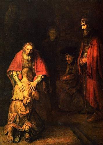 Rembrandt: Die Rückkehr des verlorenen Sohnes Seide dekorative Malerei Poster X Zoll 60x90cm