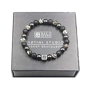 Stone Bracelet Men | Hematite, Lava, and Spider Veined Jasper Bracelet