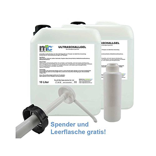 Ultraschallgel 2x 10 kg Kanister mit gratis Pumpe und Leerflasche
