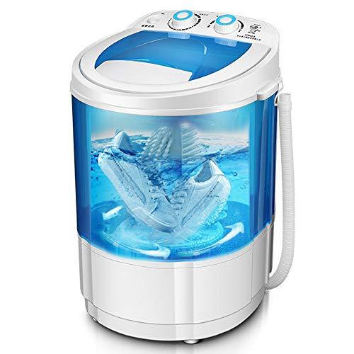 StAuoPK 220V Halbautomatische Haushalts-elektrische Waschmaschine, Faltbare Mini bewegliche Einzeleimer Schuhreiniger
