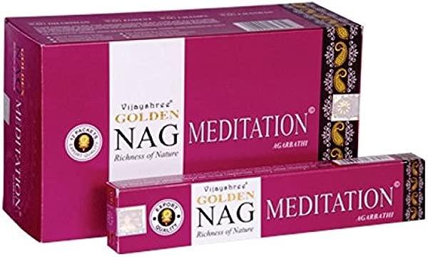 Vijayshree Golden Meditation Agarbathi Incense Sticks 15gm Each 12 Packet