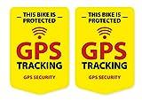 GPS Tracking Aufkleber 2 Stück für Fahrrad Mountainbike Trekking Bike Sticker Wetterfest UV-Beständig