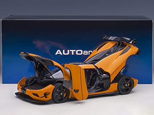 Koenigsegg Agera RS Cone Orange with Black Carbon Accents 1/18 Model Car by Autoart 79023