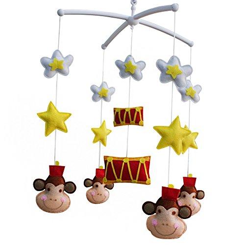 Mobile mobile musical de lit de bébé de pépinière de décoration de berceau pendant 0-2 ans, MP30